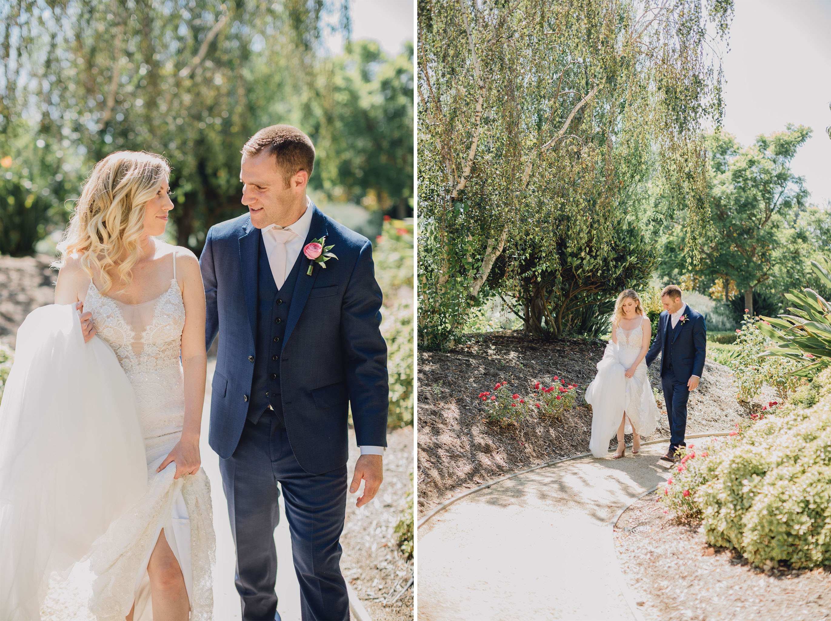 Bride and Groom Walk | Triunfo Creek Vineyards