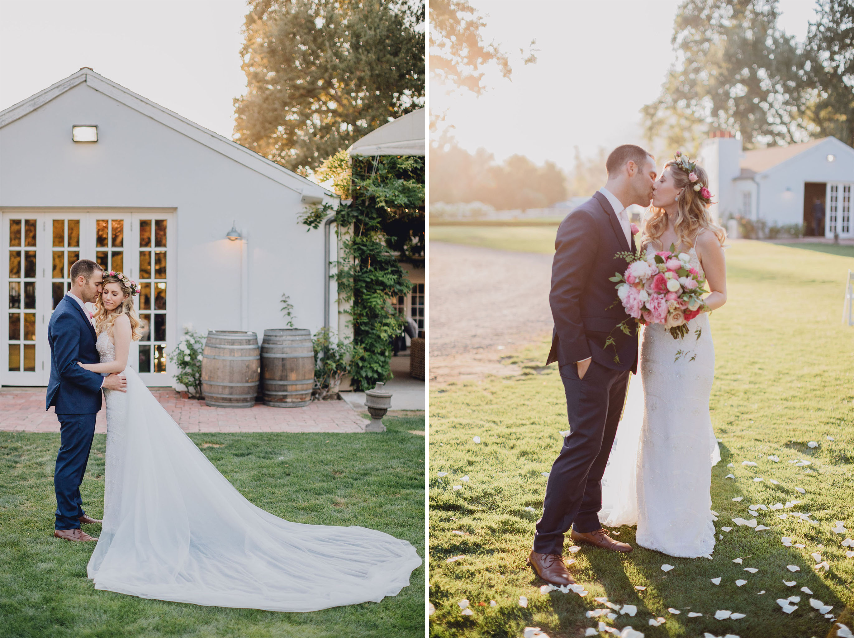 Bride and Groom Kiss | Triunfo Creek Vineyards