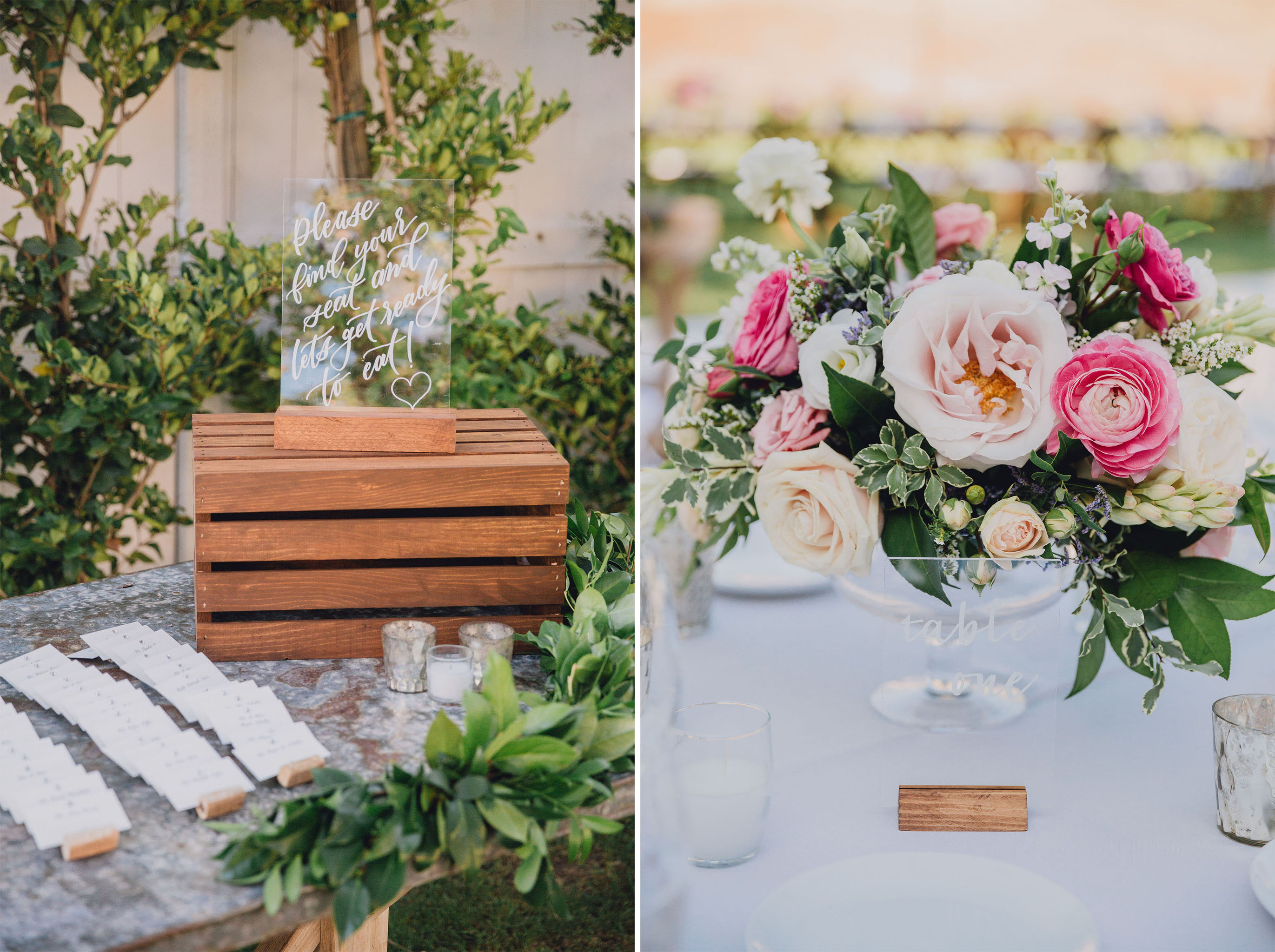 Place Cards & Centerpiece | Triunfo Creek Vineyards