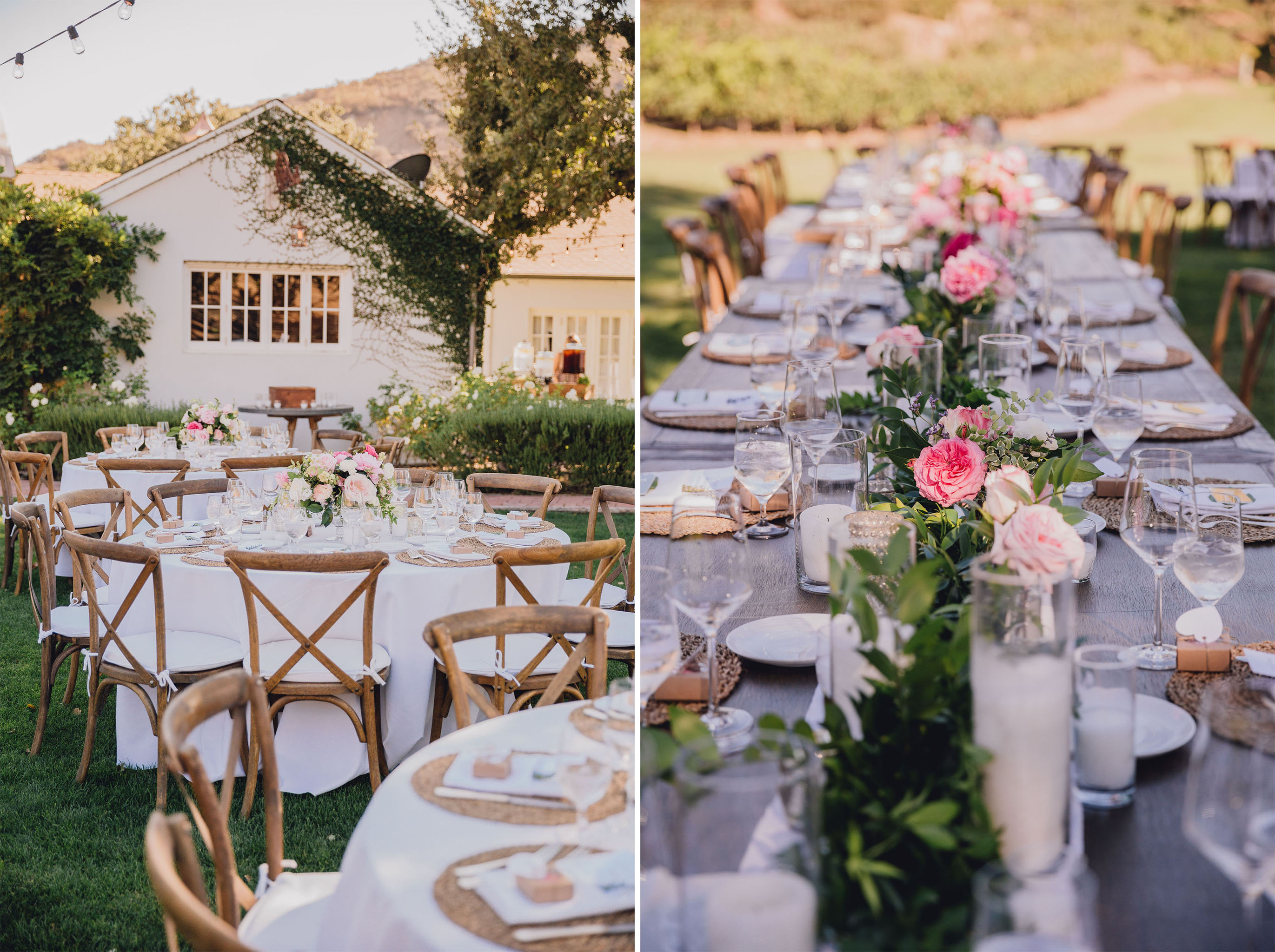 Wedding Reception Tables | Triunfo Creek Vineyards