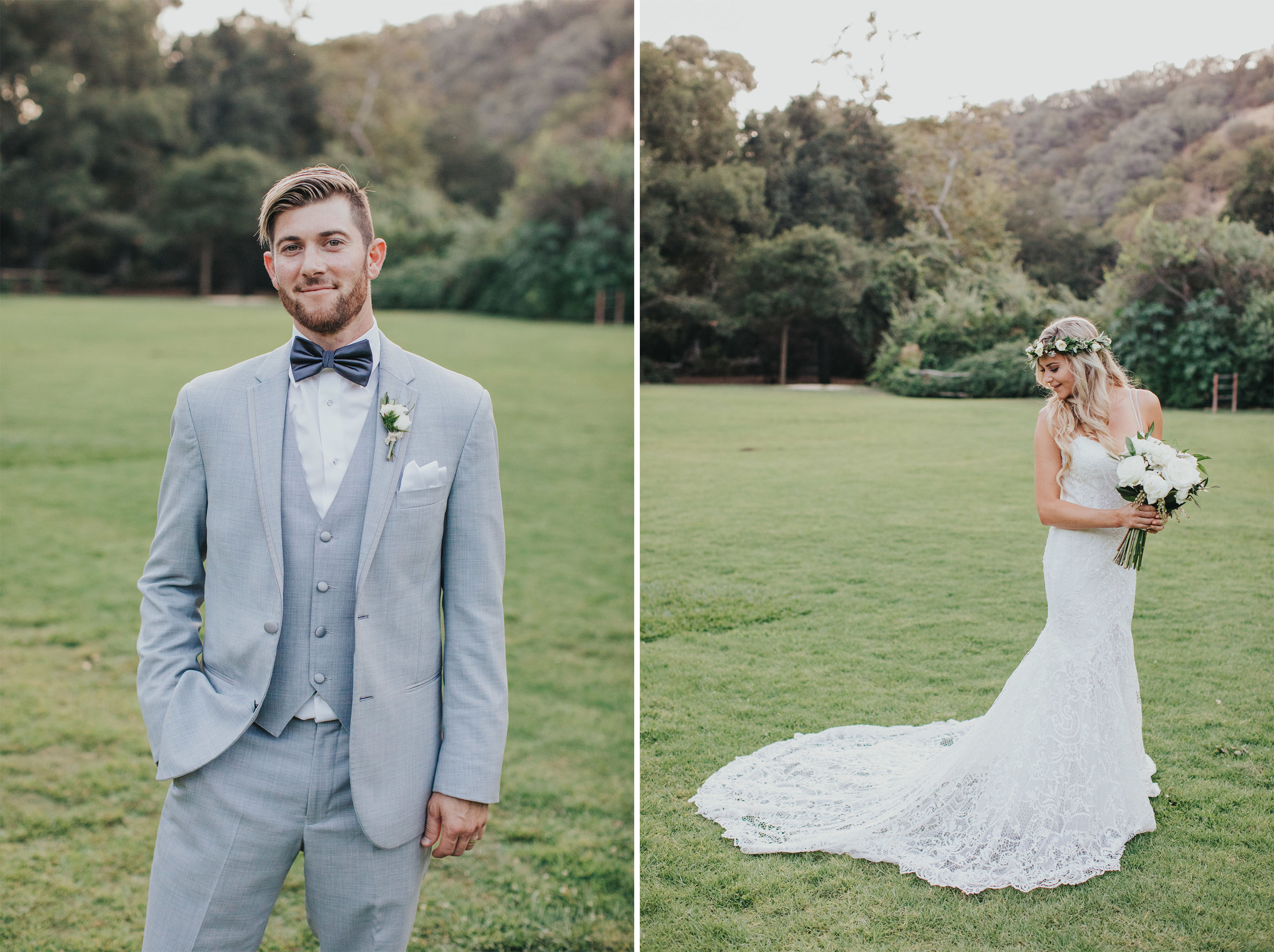 Bride & Groom Solo Shots | Calamigos Ranch