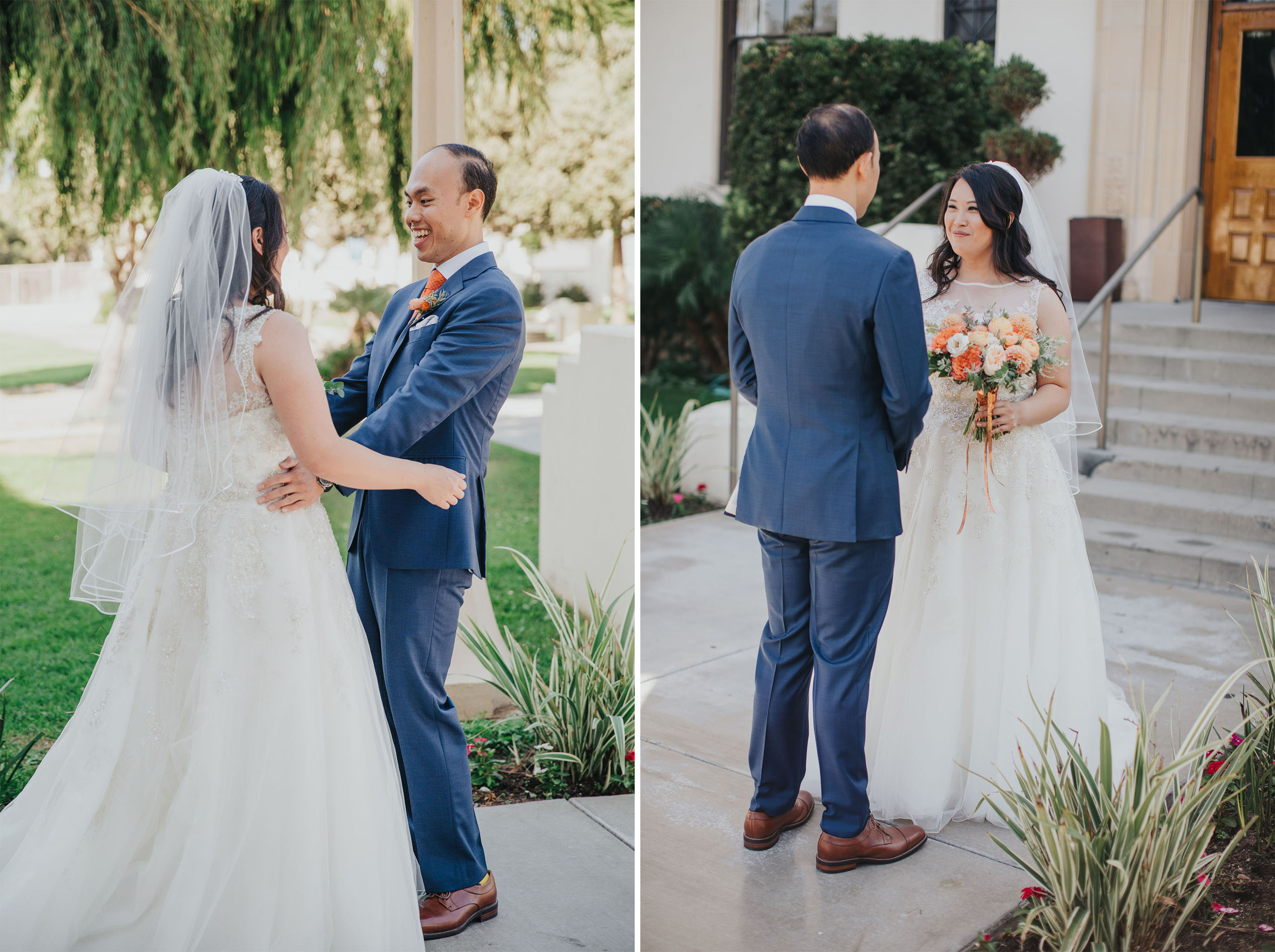 Bride Groom First Look | Redondo Beach