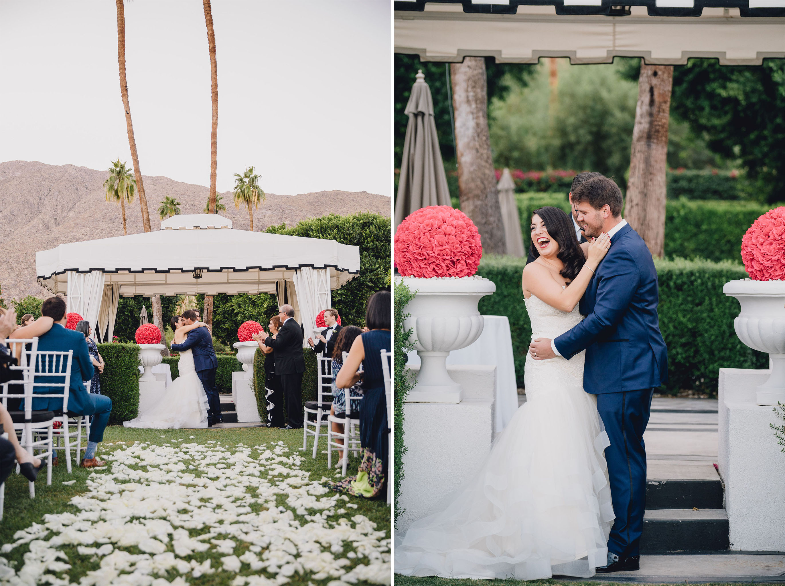 Ceremony Kiss | Avalon Palm Springs